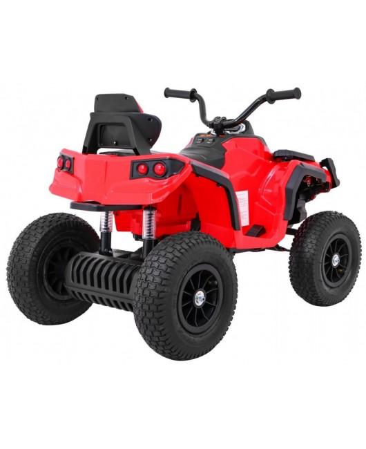 Elektrická štvorkolka Quad ATV nafukovacie kolesá červená
